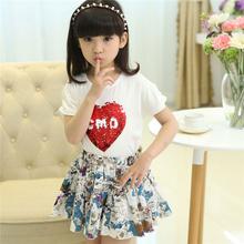 Vf296 de alta qualidade duas peças vestidos para meninas 13 anos