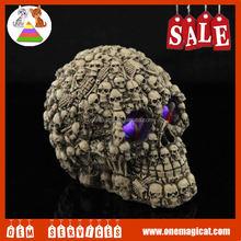 skull with light Halloween toys;oem Halloween toy ;custom made Halloween toys