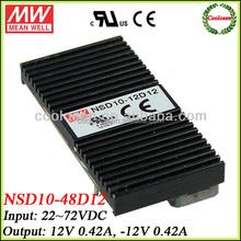 Meanwell NSD10-48D12 48v dc to 12v -12v dc converter dual output