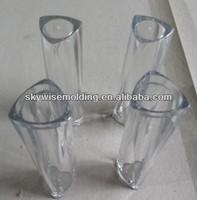 Custom made PC clear plastic part&round shape design/transparent plastic part/injection clear part
