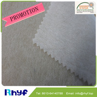 PES/PA fusible non-woven interlining fabric for women casual shirts