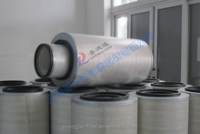 Supporting network inside and outside air filter cartridge