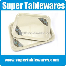 Eco-friendly printing flower melamine hotel amenity tray