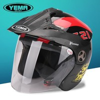 new model half face helmet YM-621 peak open face helmets with graphics