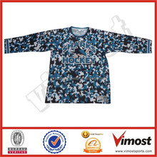 Custom long sleeve camo t-shirt sublimated field hockey t-shirt
