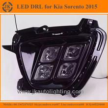New Arrival 4-Eye LED DRL Fog Lights for Kia Sorento High Quality LED Daytime Running Light for Kia Sorento 2015