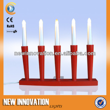 5L C6 BULB RED WOODEN CANDLE LIGHT