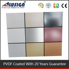 Alusign plastic cover with aluminum well known acp brand coated aluminum stucco embossed sheet