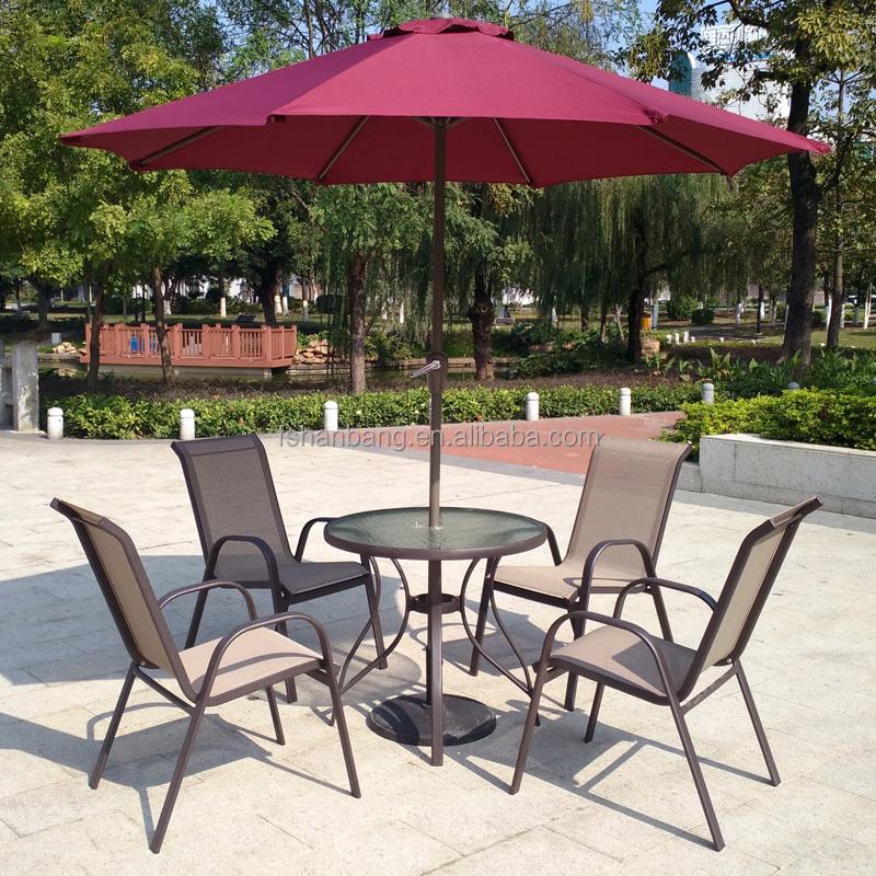 6 piece Outdoor Garden Patio Furniture Glass Aluminum