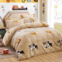 High quality animal print duvet cover cheap dog pattern professional quilt cover set