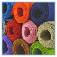 Organic hard color wool felt