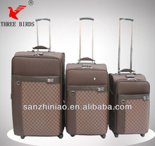 Fashion Design evaTravel luggage SANZHINIAO Brand sales leather cases or zip luggage for man and lady luggage 4 scilent wheels