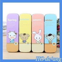Hogift China factory tin pencil case/student stationery wholesale/creative pencil case
