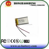 2015 hot small lipo battery 501235 170mah lithium polymer 401730 160mah 3.7v 170mah lipo battery