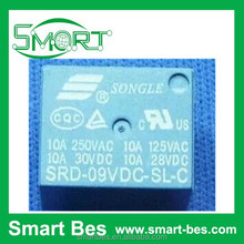 Smart Bes~SONGLE RELAY SRD-09VDC-SL-C,T73-9V 9V SPDT(single-pole double-throw) 10A high current