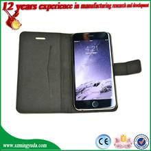 Factory smart flip Anti-radiation PU leather phone case for iphone 6 , mobile phone case for iphone 6