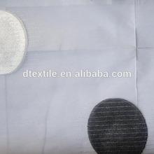 100% de poliéster, 280cm ancho, diseño de gran círculo, chenilla yl606-2s voile