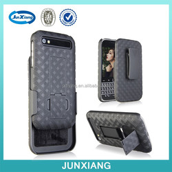 High quality holster combo belt case with weave pattern for Blackberry q20