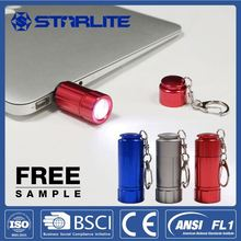 STARLITE promotional 7LM fashion 4*AG3 battery keyring with led light