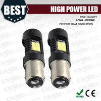 Good quality 21lsmd 10.5w high lumen brake light bulb 1157 3157 7443 led canbus