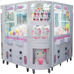 OEM/ODM 4 players popular gifts crane claw machine/toy vending machine for amusement park and market