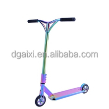 Electroplated Rainbow Adult Professional Freestyle Complete Comp End Neo Chrome Kick Scooter
