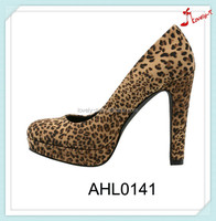 office leopard Lady bulk wholesale high heels platform heels woman shoes