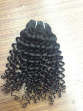 Top hot seller 100% virgin hair products Brazilian hair curled extension natural hair
