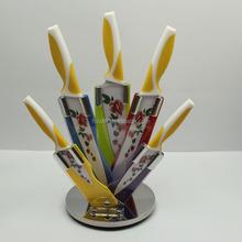 Colorful 5pcs set ceramic coating kitchen knife