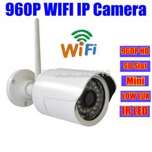 ONVIF p2p mini 1.3 MP IP security Camera Wifi 960P HD Wireless Outdoor IR webcam Low Lux SD/TF/Micro Card Slot cctv ipcamera