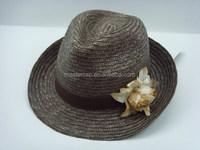 Customize ladies floppy straw hat low MOQ,promotional straw hat,cheap straw hat