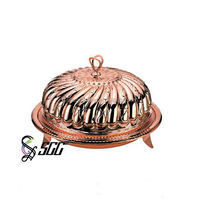 Exquisite Design Rose Golden Plated Stainless Steel Dome and Plate Dinnerware