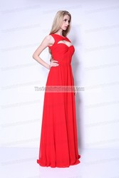 Celebrity Inspired Odette Yustman 2011 Oscars Hot Red Chiffon Women's Evening Dress