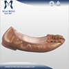 Flexible feature fancy girls latest flat leather shoes lady