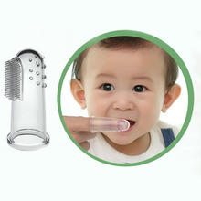 Baby Kid Soft Silicone Finger Toothbrush & Gum Massager Brush Clean Teeth