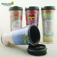 Factory direct Double wall plastic tumbler coffee tumbler