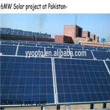 stock of High quality and Copetitive price polycrystalline 250W solar panel on sale