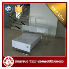 MDF steel clothing display unit Made in China winter clothes shop counter decoratio