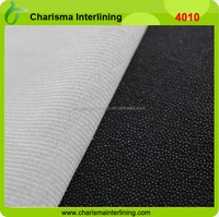 tie collar interlining double sided fusible interfacing 100 polyester knit fabric