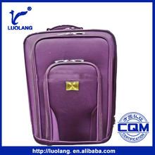 cheap soft purple leisure nylon travel trolley luggage