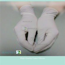Disposable latex gloves powdered disposable products