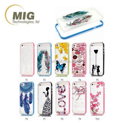 Transparent Painting Feather & Love & Butterfly & doughnut mobile phone tpu case cover for iphone 6s case