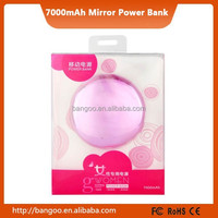 Mini Ultra-thin Mirror Reliable Smart Power Bank 7000mAh Backup Battery Pack for Cell Phones and Pads