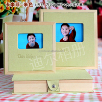 2015 popular hot sales handmade wooden cloth art photo album cover from factory