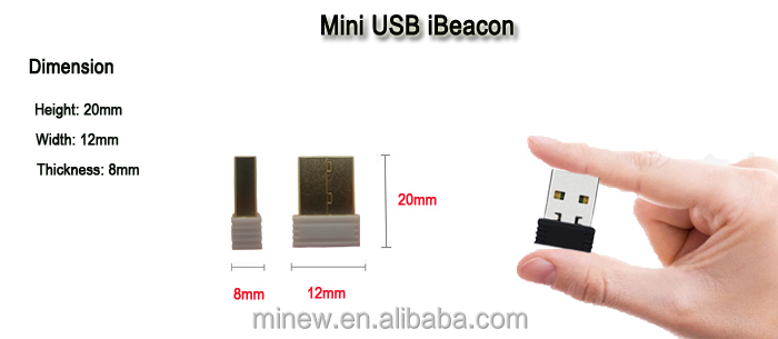 Mini USB beacon-size