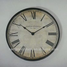 wall clock roman numerals Retro wall clock plastic wall clock