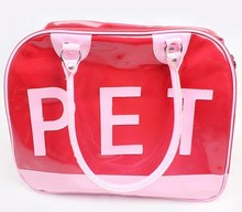 2015 brand dog bag, plastic pet products dog carrier