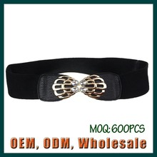 fashion elastic belts for women PU leather alloy buckle casual fitness multiple color good quality customized belts