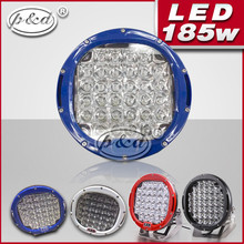 9 INCH Blue white black Red 185watts 4x4 xenon LED driving lights