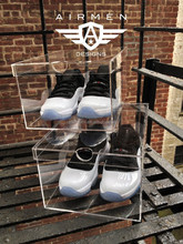 Wholesale custom clear plastic shoe box, transparent acrylic shoe box for Adidas